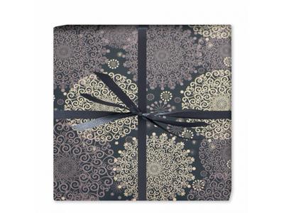 Gavepapir Jul Grey lace snowflake 55 cm x 175 meter