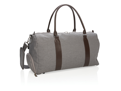 Weekend taske med USB udgang, grå