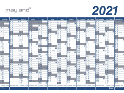 Kæmpekalender 2021 1x13 mdr. plast 21065100
