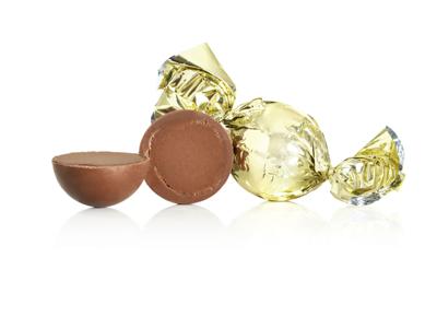 Chokoladekugler guld 1kg. karamel