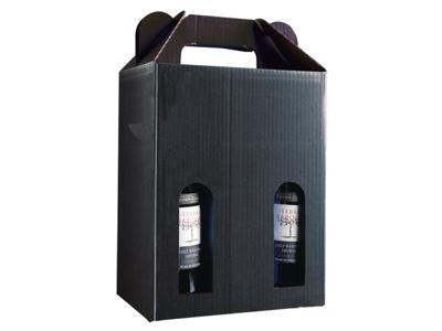 Vinæske sort blank til 6 flasker
