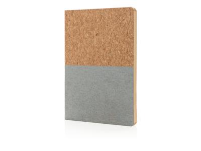 Eco kork notesbog, grå
