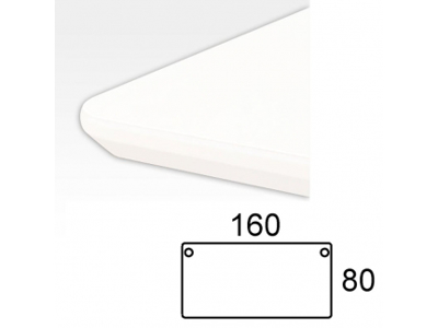 Bordplade 160 x 80 cm Hvid