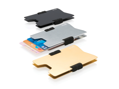 Aluminium RFID anti skimming minimalistisk etui, sølv