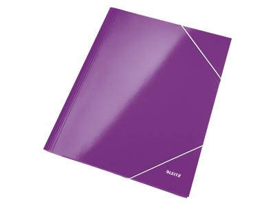 Elastikmappe A4 karton lilla Leitz WOW