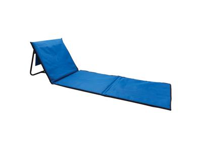 Foldbar lounge strandstol, blå