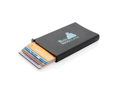 Standard aluminiums RFID kortholder, sort
