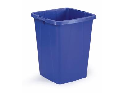 Affaldspand Durabin 90L. blå firkantet