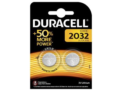 BATTERI Duracell DL/CR 2032 2 stk