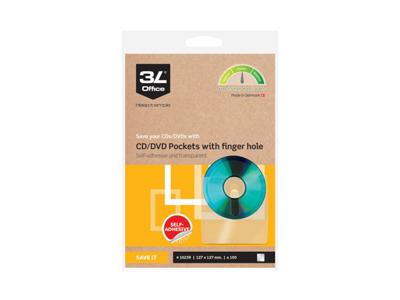 CD-DVD lommer selvklæbende