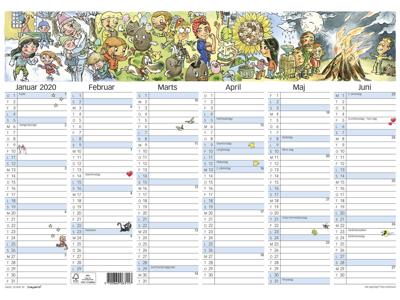 A3 kalender m/illu. af Otto Dickmeiss, FSC Mix 20063150
