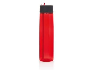 Tritan flaske med sugerør, rød