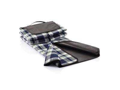 Tartan picnictæppe, marineblå