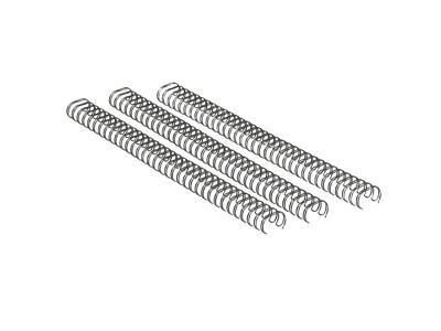 Spiralrygge Wire 10 mm 3:1 sølv 100 stk