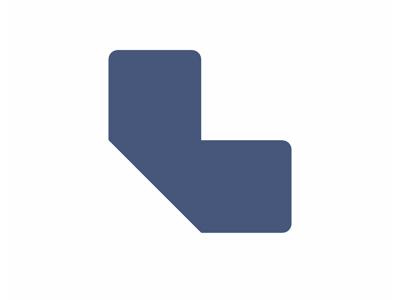 Gulvmærker L form blå