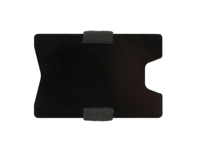 Aluminium RFID anti skimming minimalistisk etui, sort