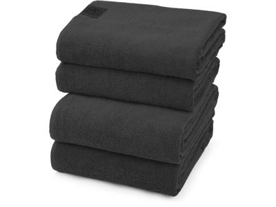 Håndklæder Black Label Steel Grey 4 stk