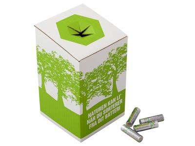 Miljøkasse t/brugte batterier