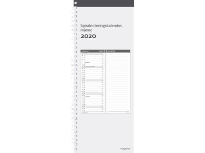Spiralnoteringskalender, måned,  hård PP-plast, FSC Mix 2022