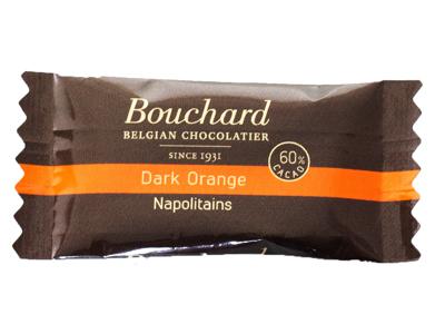 Chokolade Bouchard orange 5 gram 1 kg.