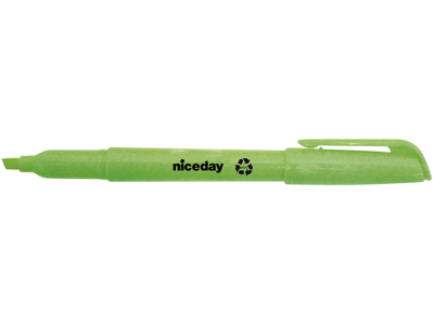 Tekstmarker Niceday penneform grøn