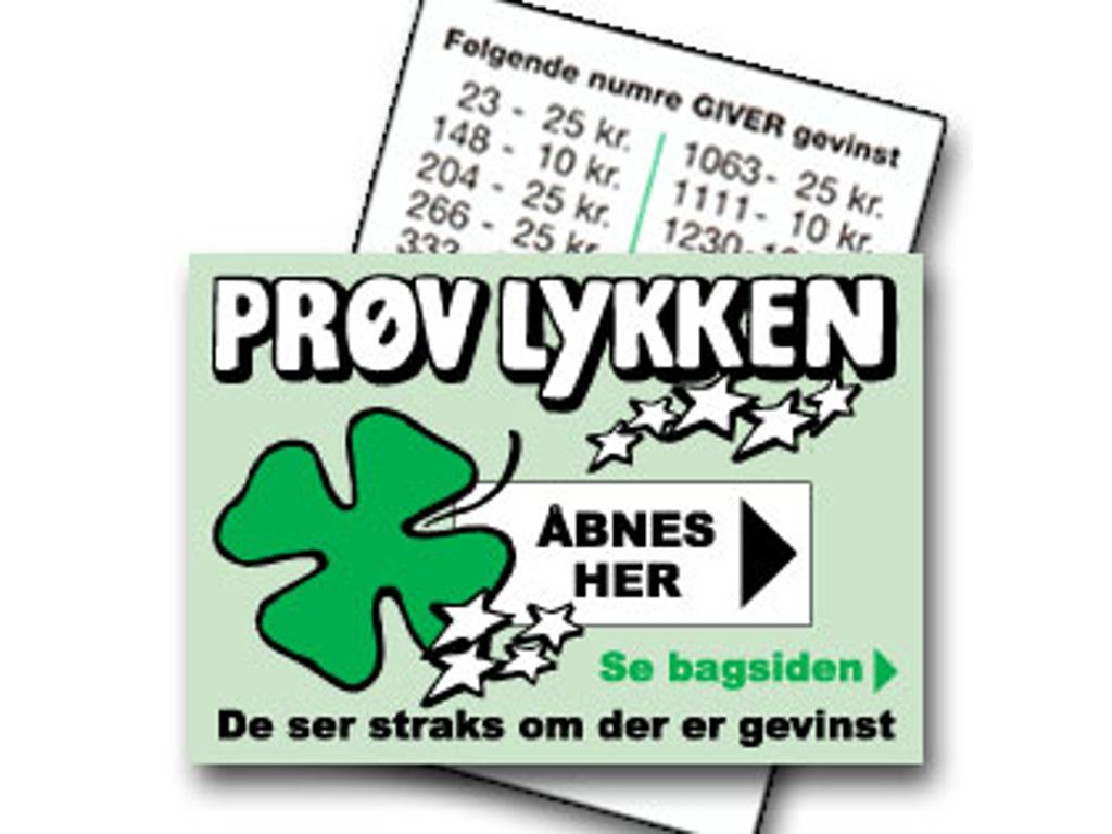 PRØV LYKKEN GRØN (2000 LODDER)