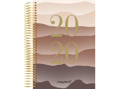 Spiralkalender, 1-dag, soft touch, bjerg, FSC Mix 20210050