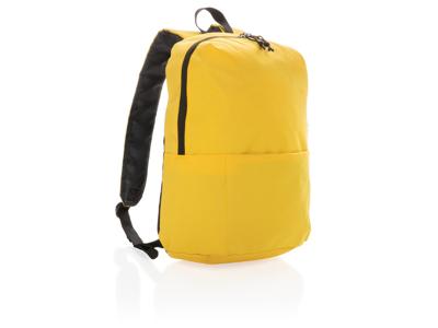 PVC fri rygsæk i afslappet stil, gul