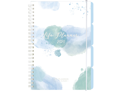 Life Planner Week, A5, blue, tværformat, karton, FSC Mix 202