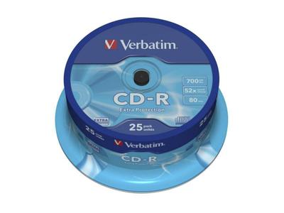 CD-R  700 MB 80 min 25 stk.