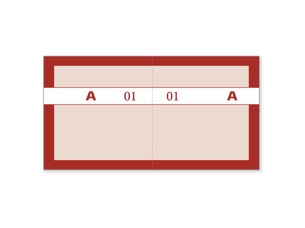 Kuponbog Rød 2x100 blade