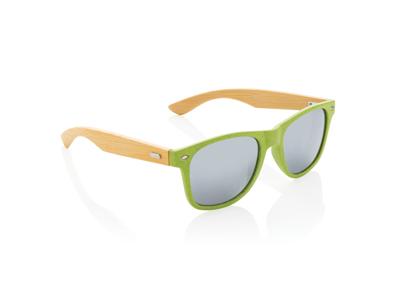 Hvedestrå og bambus solbrille, grøn