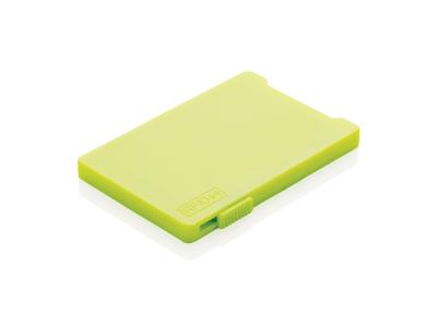 Multi kortholder med RFID anti skimming, lime grøn