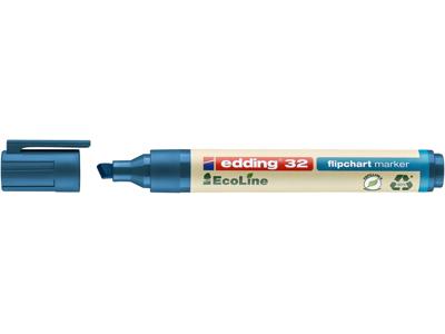 Marker Edding 32 Ecoline blå flipover