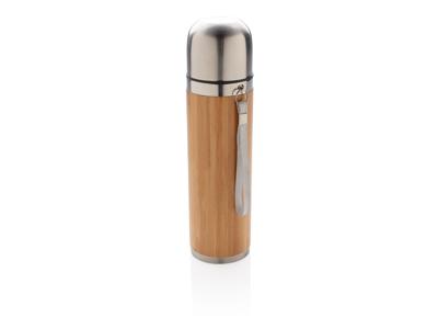 Bambus vakuum rejse flaske, brun