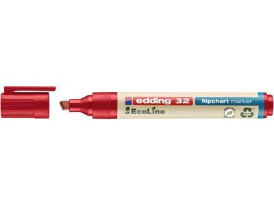 Marker Edding 32 Ecoline rød flipover