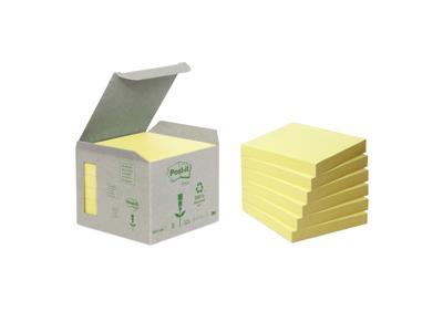 Post it 76x76mm gul miljø 6 blokke