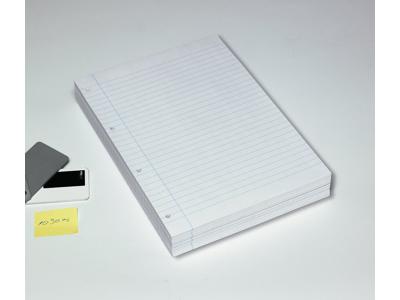 Arbejdsblade A4 hvid linjeret hullet 500 ark