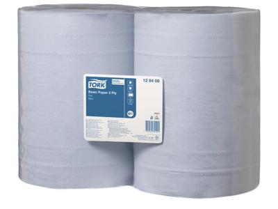 Aftørring Tork W1 128408 Basic 2-lags blå 1000 ark/rl. 2 rl.