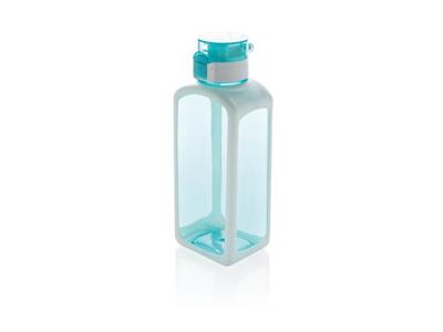 Squared låsbar leakproof tritan vandflaske, turkis