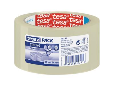 Tape Pakke Tesa 57167 50mm x 66 m klar