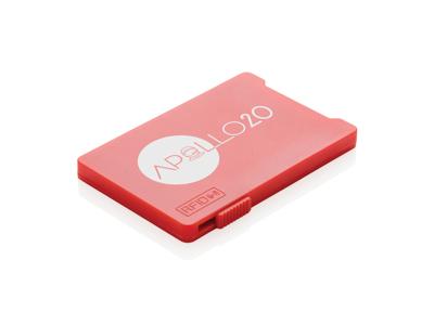 Multi kortholder med RFID anti skimming, rød