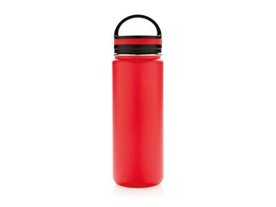 Tætsluttende termoflaske med bred åbning, rød