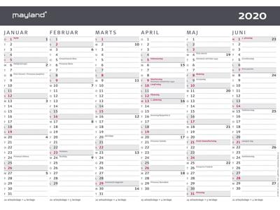 A4 kontorkalender, moderne, FSC Mix 20059050