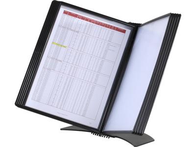 Registersystem EasyMount bord A4 sort t/20 lommer