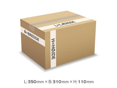 Bølgepapkasse 350x310x110 mm 3 mm - 12 liter
