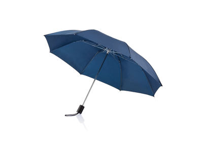 """Deluxe sammenfoldelig paraply 20"""", blå"""