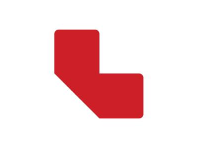 Gulvmærker L form rød
