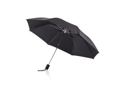 """Deluxe sammenfoldelig paraply 20"""", sort"""
