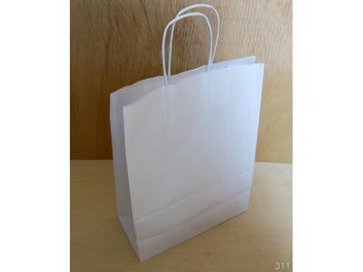 Bærepose papir 260x120x350mm hvid 16 liter twistet hank 250